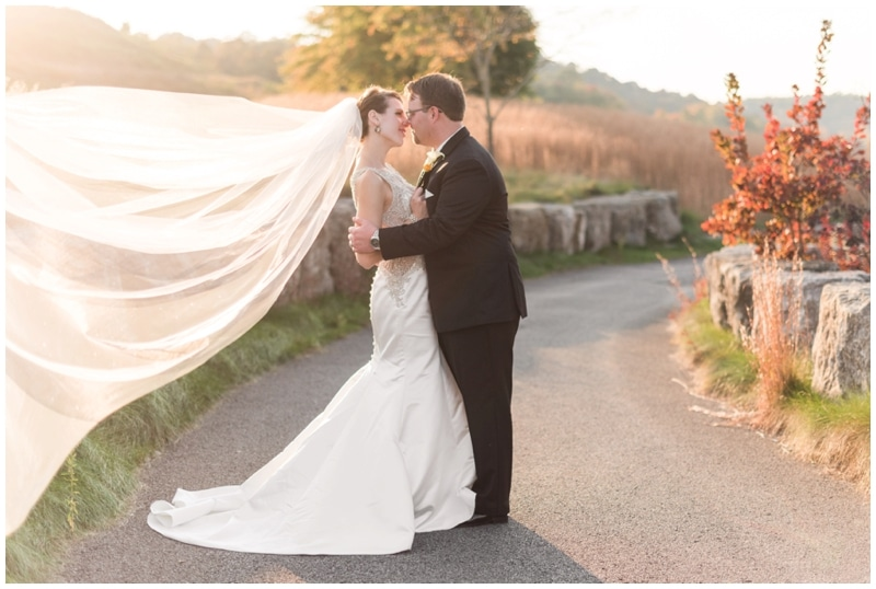 Black tie fall wedding at Shakespeare's Restaurant in Pennsylvania by Madeline Jane Photography