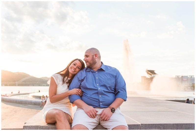 Sunset Engagement Pittsburgh, PA // Melissa & Chris