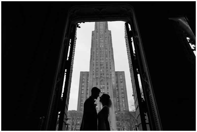 Heinz Chapel winter wedding in Pittsburgh, PA by Madeline Jane Photography