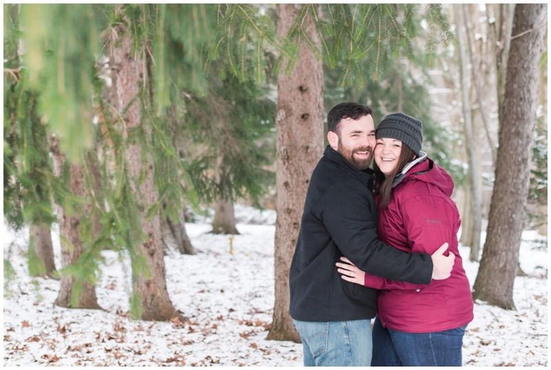 Wintery Engagement Butler, PA // Kiley & Mat