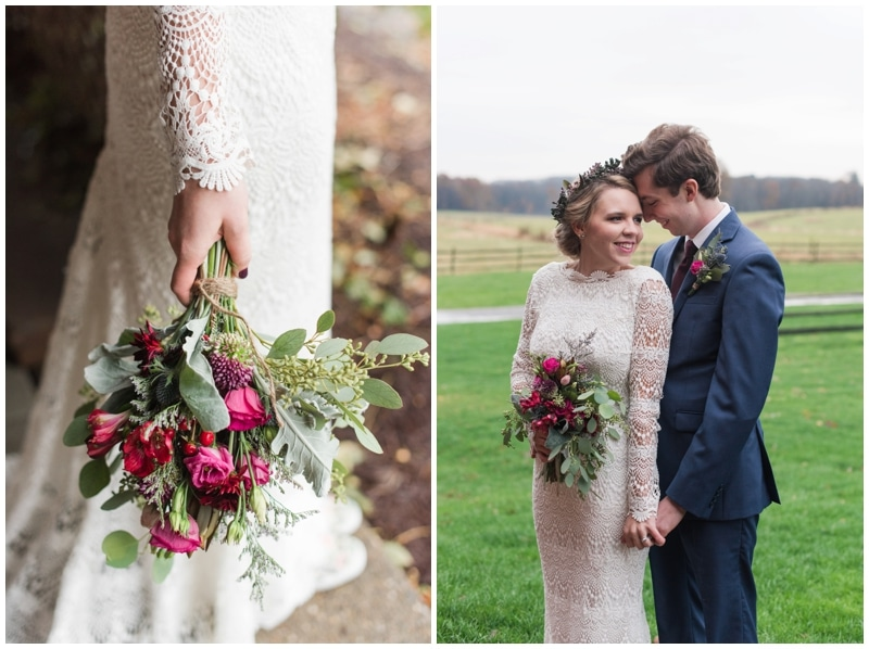 Romantic fall Armstrong Farms wedding by Madeline Jane Photography