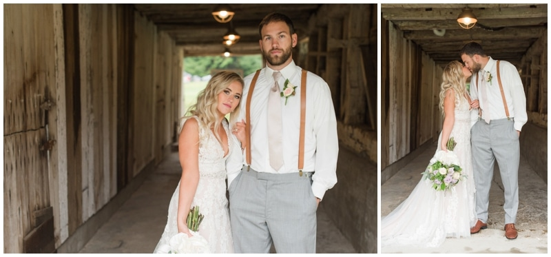 Rainy fall wedding day at the barn at Ever Thine in Fenelton, PA by Madeline Jane Photography