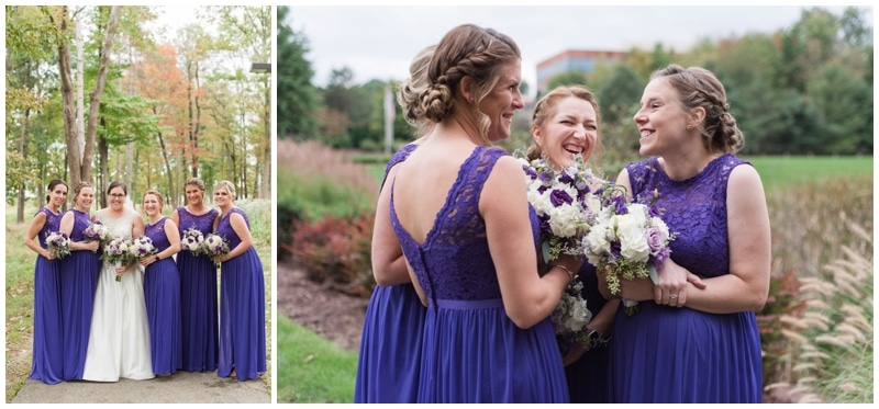 Romantic fall wedding at Pittsburgh Marriott North by Madeline Jane photography