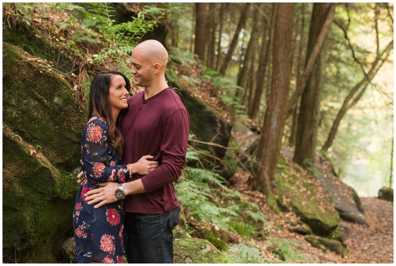 Gorgeous fall engagment session at McConnells Mill State Park by Madeline Jane Photography